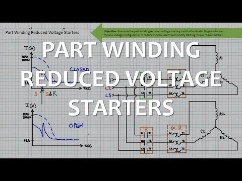 Part Winding Reduced Voltage Starters (Full Lecture) - YouTube on compressor start capacitor wiring diagram, water cooled condenser diagram, water source heat pump diagram, air conditioner thermostat wiring diagram, hvac dual capacitor wiring diagram, copeland hermetic compressor diagram, capacitor start motor wiring diagram,