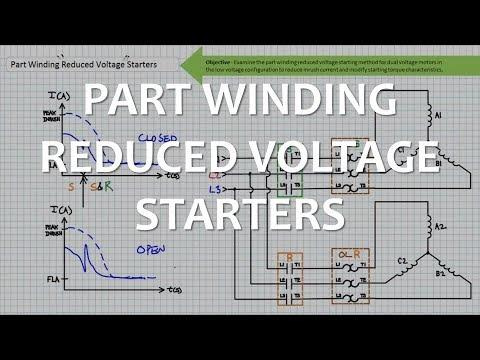 Part Winding Motor Starter    Wiring         Wiring       Diagram
