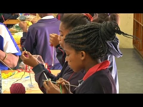 Choose knitting, not crime, South African children urged