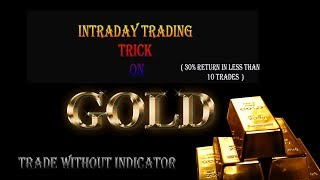 GOLD TRADING STRATEGY | TRADE LIKE A PRO | 30% return in less than 10 trades