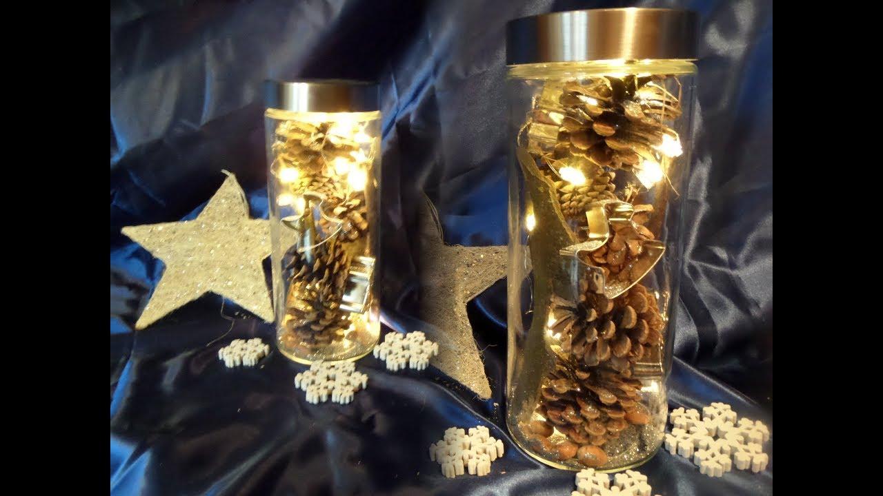 Diy Zauberhafte Naturliche Led Winter Weihnachts Deko Im Glas