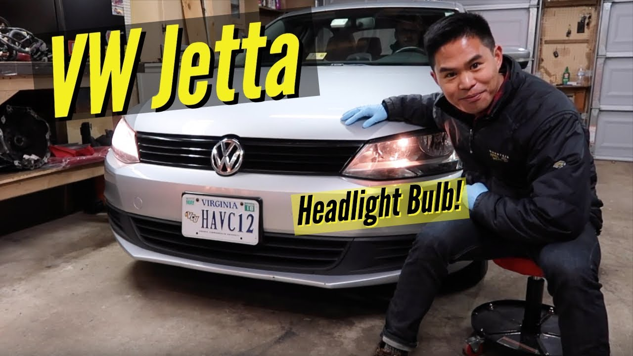 How To Vw Jetta Headlight Bulb Replacement