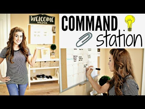 HOW TO CREATE A COMMAND CENTER | HOME ORGANIZATION PROJECT