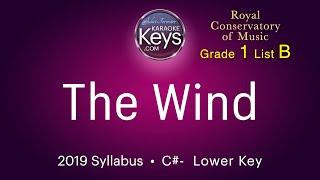 The Wind.   C#-   RCM grade 1  (karaoke piano) WITH LYRICS