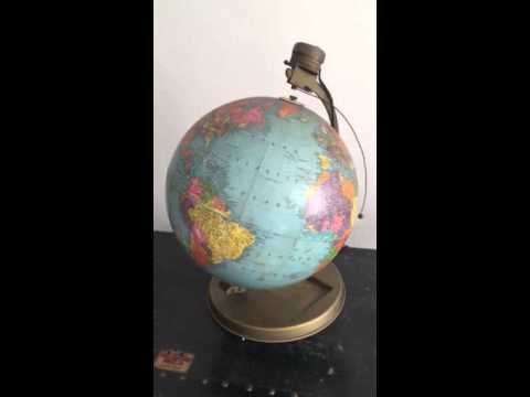 "Mechanical Replogle 12"" Reference Globe with Orbiting Satelite"