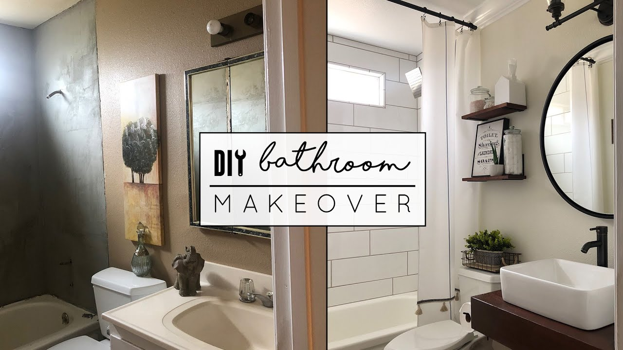 Diy small bathroom makeover youtube - Pictures of small bathrooms ...