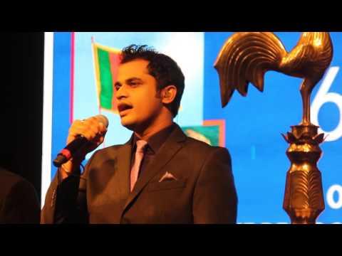 Gaurav Dagaonkar Singing Sri Lankan National Anthem