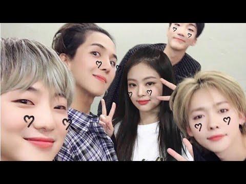 Jennie & Mino moments (sbs inkigayo + music core 2018)