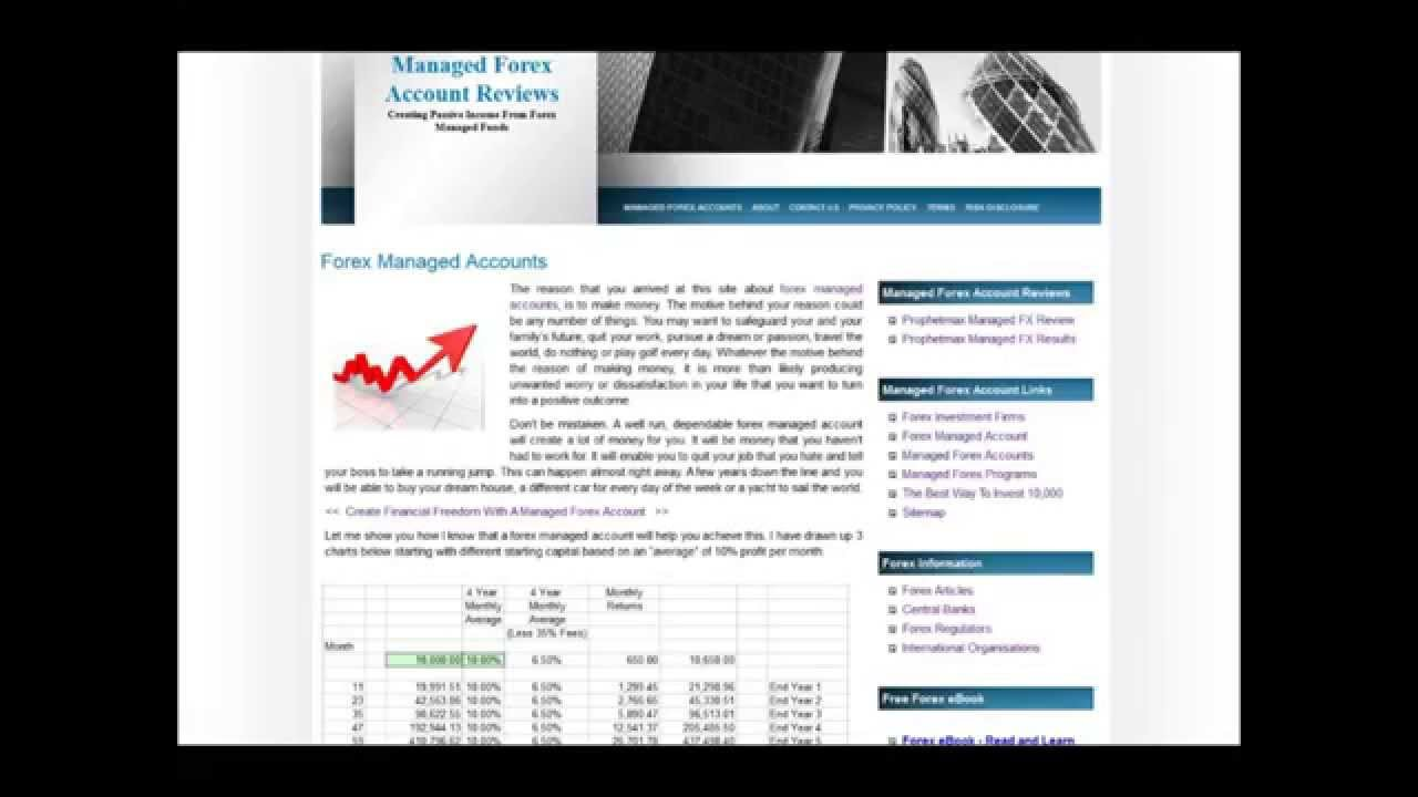 Forex managed account agreement