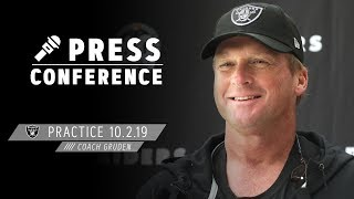 """Coach Gruden on facing Bears: """"We're anxious to see how we stack up"""" 