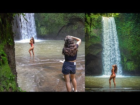 Natural Light Waterfall Photoshoot in Bali, Behind The Scenes