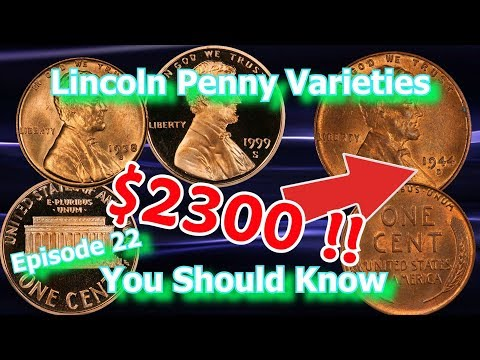 Lincoln Penny Varieties You should Know Ep 22 - 1999, 1938, 1944 and How  Much They May Be Worth