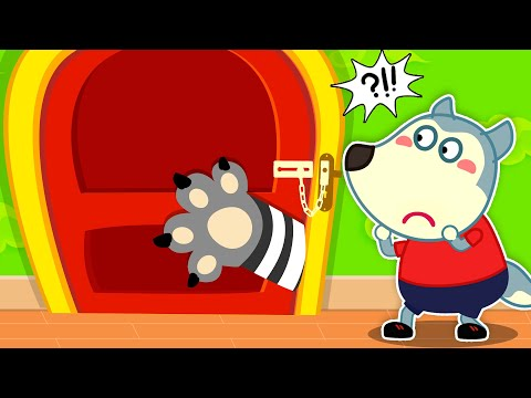 Wolf Family🌞 Don't Open the Door to Strangers! - Wolfoo Learns Safety Tips for Kids | Kids Videos
