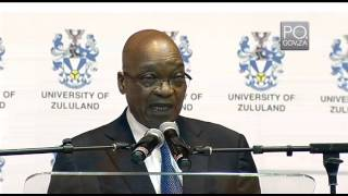 President Jacob Zuma delivers public lecture at University of Zululand