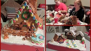 Gingerbread House Building Competition {Vlogidays Day 23}