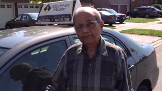 Drive / Road Test Success of our Eighty Six 86 years Old Senior Student