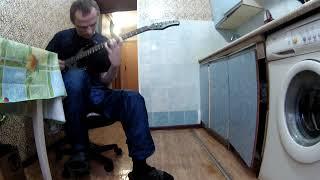 Папа с дочкой играют на гитаре соло Кипелов Я свободен