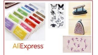 силиконовые штампы и штемпельные подушечки с Али Экспресс(, 2016-10-15T17:21:15.000Z)
