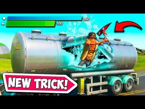 *NEW* EPIC MAX SHIELD TRICK!! - Fortnite Funny Fails And WTF Moments! #736