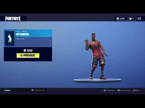 *NEW* HITCHHIKER & MY IDOL DANCE EMOTES! - FORTNITE BATTLE ROYALE