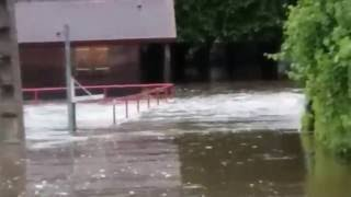 Inondations camping cour cheverny