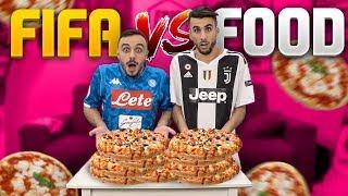 🍕 PIZZA CHALLENGE! OHM vs FIUS GAMER | UNA PIZZA OGNI GOAL SUBITO! FIFA 19 VS FOOD