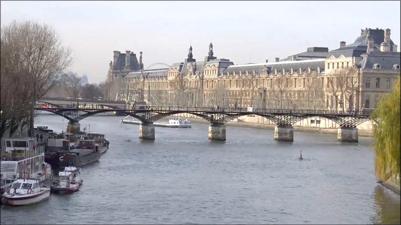 Pont des arts sans cadenas la seine bateau mouche paris france youtube - Pont des cadenas paris adresse ...