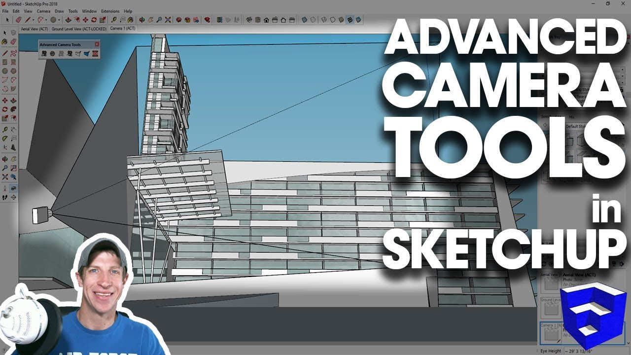 ADVANCED CAMERA TOOLS in SketchUp