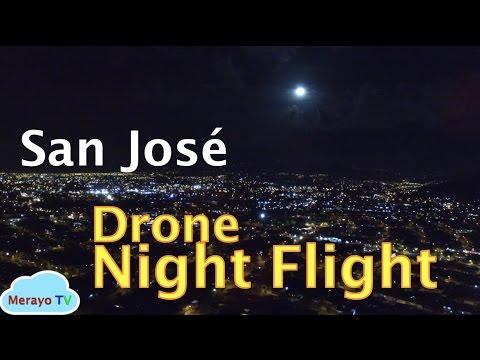 San Jose Costa Rica-  La Luna The Moon - Night Drone-
