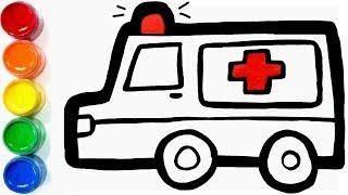 Today, I Drew and Painted Ambulance Learn ColorsㅣJoy Art SeoeunStory