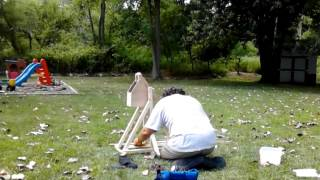Water Balloon Launch With Home-made Trebuchet
