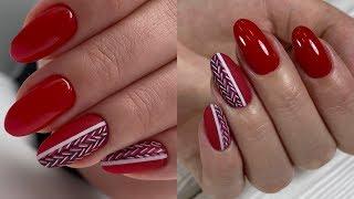 ТЕПЛЫЙ маникюр Зимний дизайн ногтей Новогодний дизайн ногтей