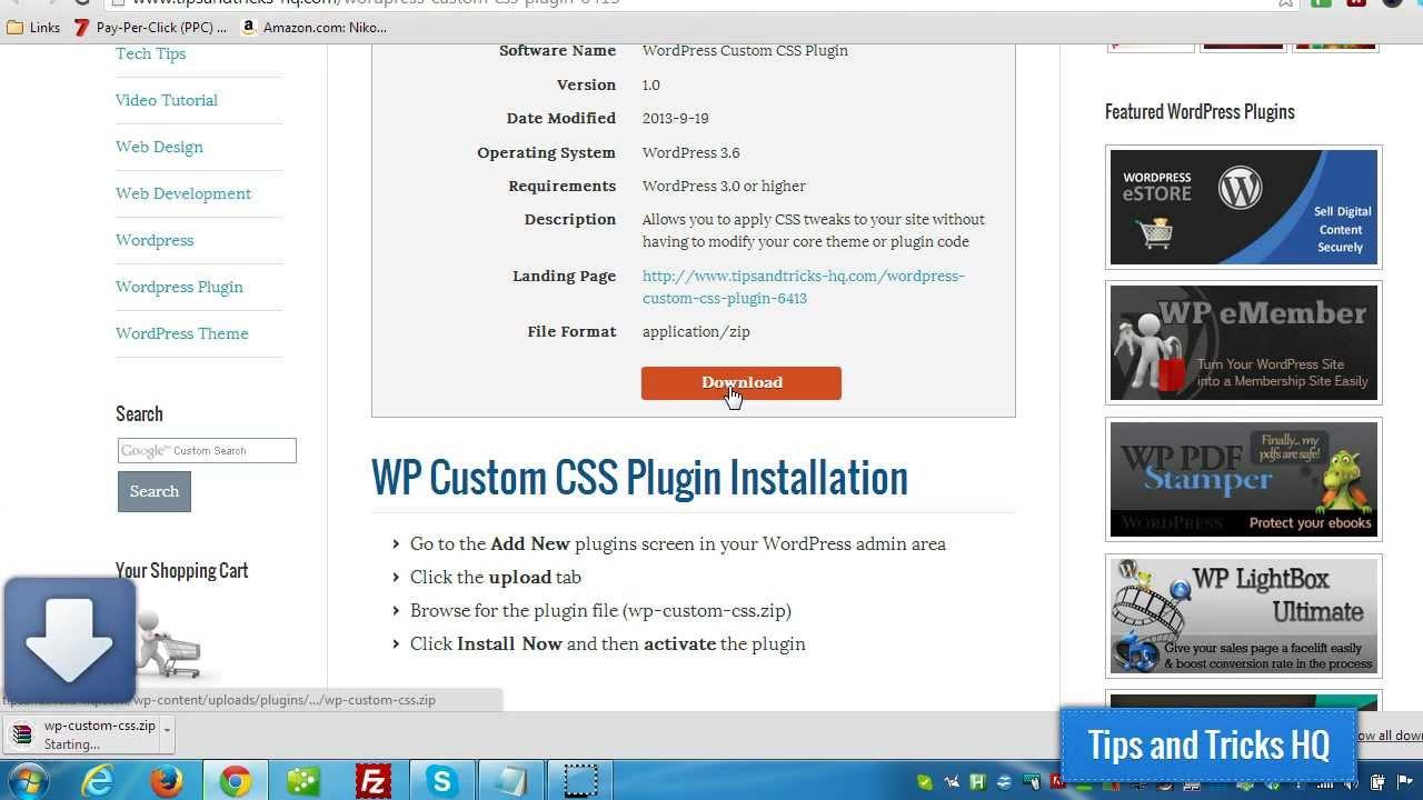 WordPress Custom CSS Plugin