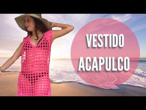 TEJE VESTIDO DE PLAYA ACAPULCO - CROCHET FÁCIL Y RÁPIDO