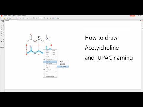How to draw Acetylcholine and IUPAC naming. from YouTube · Duration:  5 minutes 14 seconds