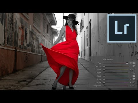 Adobe Lightroom Tutorial: How to Isolate Color with HSL (Black White Pop) thumbnail