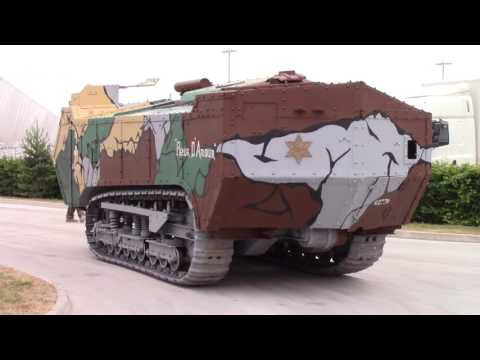 Saint-Chamond WW1 French Heavy Tank Setting Up At Tankfest 2017