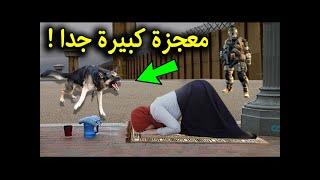 شاهد ماذا فعلت هذة المرأة عندما هجم عليها كلب وهي تصلي .. معجزة كبيرة جدا سبحان الله !!