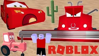 Roblox Disney Cars Watch out for Frank and Race to the Finish line!