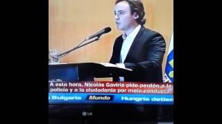 Nicolas Gaviria Pide Perdón a la Policia - Usted no sabe quien soy yo
