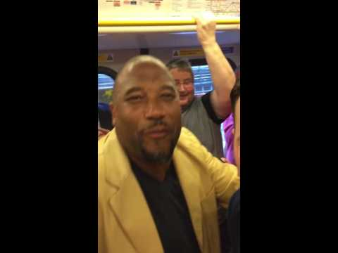 John Barnes Sings World In Motion On Tube!