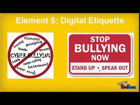 Digital Citizenship Element 5 Digital Etiquette YouTube