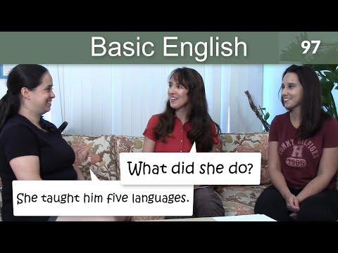Lesson 97 ?????Basic English with Jennifer - More Verbs in the Simple Past