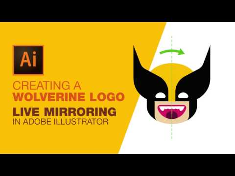 Creating a Wolverine Logo: Live Mirroring in Ai