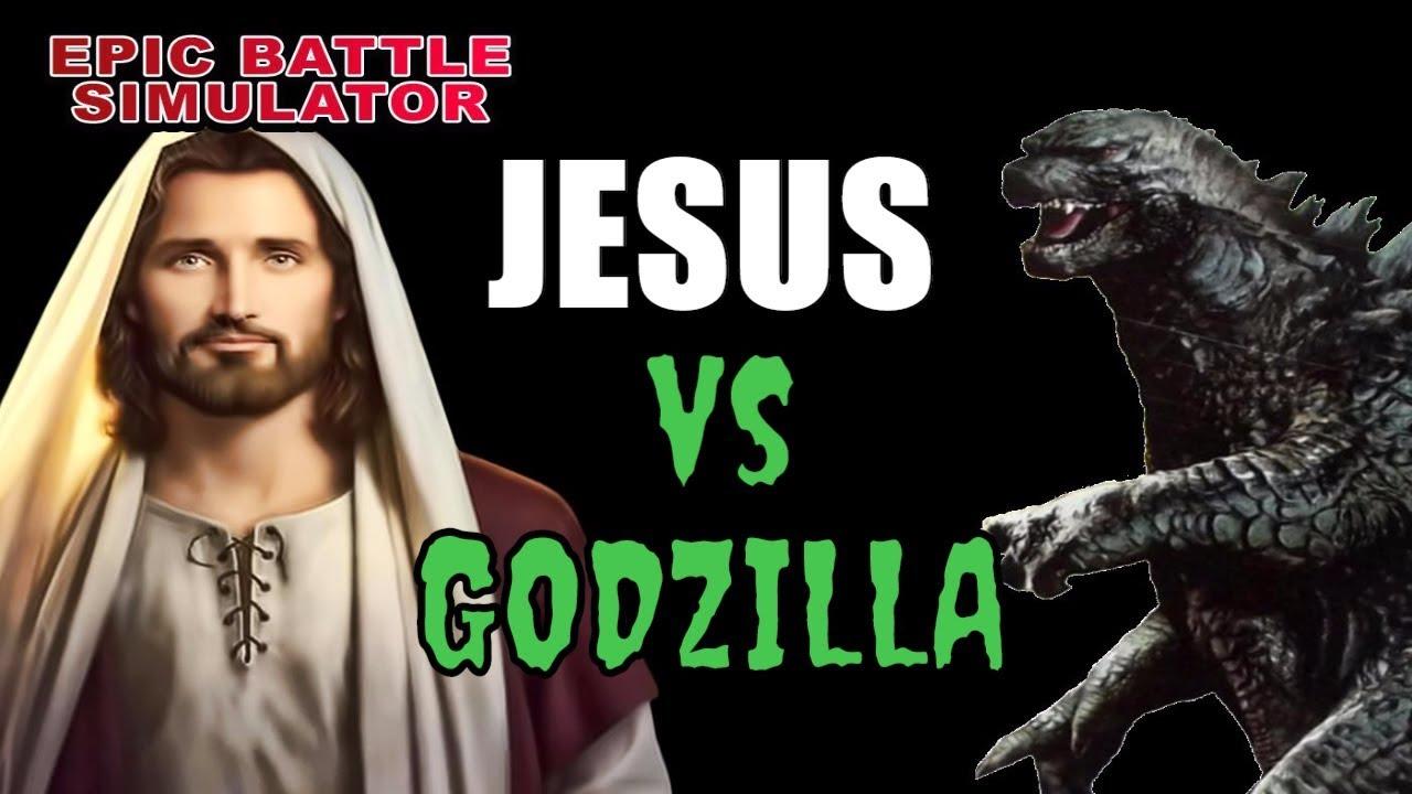 uebs jesus vs godzilla ultimate epic battle simulator gameplay
