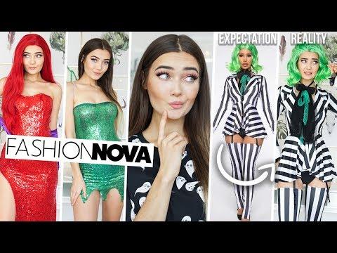 TRYING ON FASHION NOVA HALLOWEEN COSTUMES... I'M SHOOK! AD