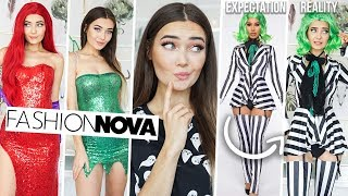 TRYING ON FASHION NOVA HALLOWEEN COSTUMES... I'M SHOOK! AD