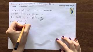 Дифференцирование. Запись уравнения касательной к кривой. Урок 6