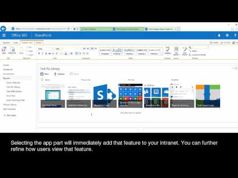 Using Microsoft's SharePoint Online To Create An Intranet Site