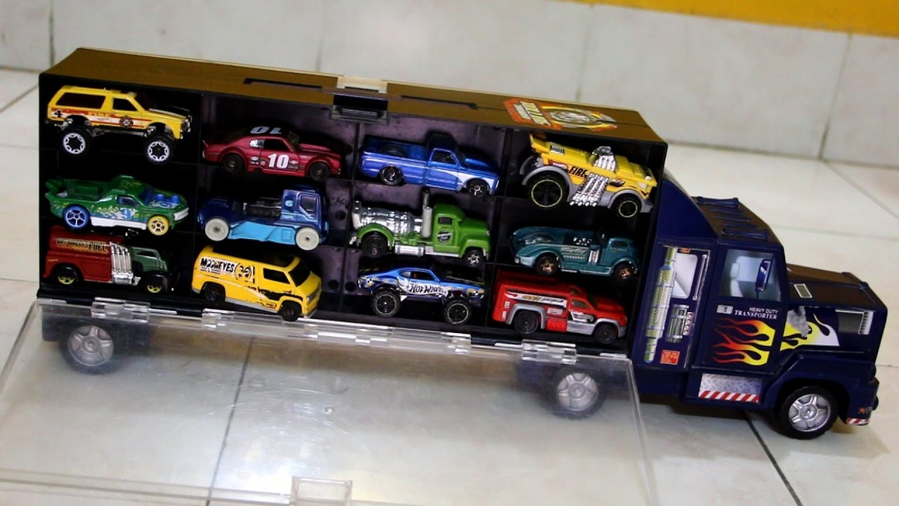 Toy collection car transporter truck power container for for Toys r us motorized cars
